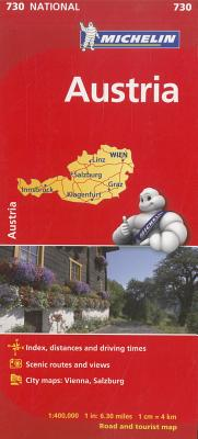 Michelin Map 730 Austria By Michelin Travel & Lifestyle (COR)